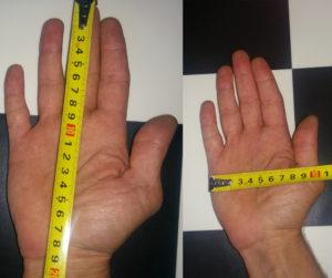 Dimensioni della mia mano