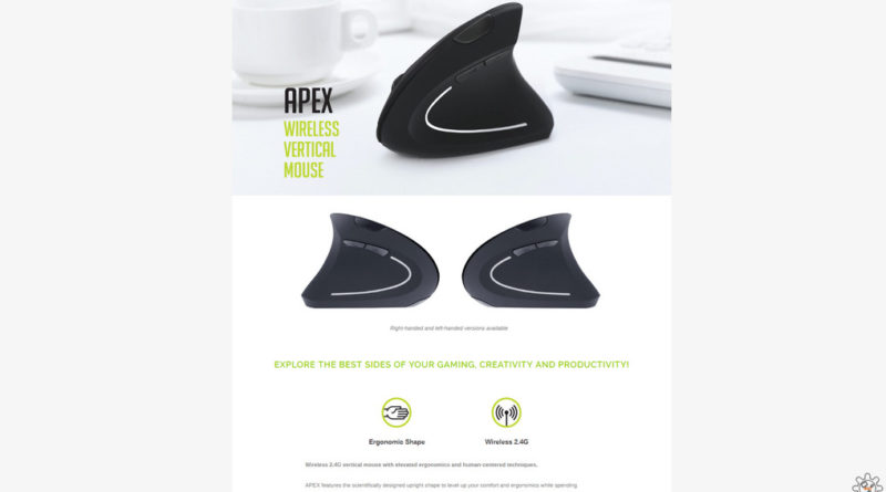 Apex Vertical Wireless Mouse by Gelid Solutions
